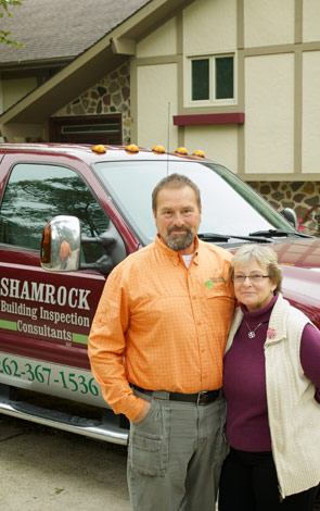 Tom and Debbie Dempsey - Owners Shamrock Building Inspection Consultants perform home and commercial inspections in Southeast WI counties