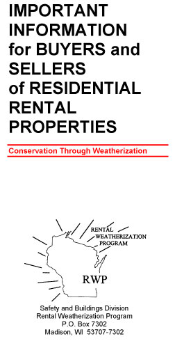 Rental Weatherization information flyer for properties WI Saftey and Buildings Division for Shamrock Building Inspectors in Southeast WI