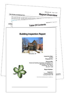 Shamrock Building Inspection Consultants Sample PDF report for Residential home inspections