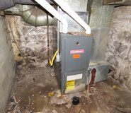 Poorly maintained furnace and heating systems - found during Shamrock residential home inspection
