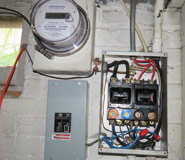 Dangerous handyman wiring not to code - found during Shamrock residential home inspection